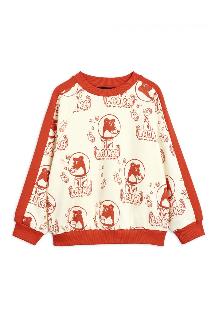 Mini Rodini Lajka all-over print sweatshirt Offwhite_1