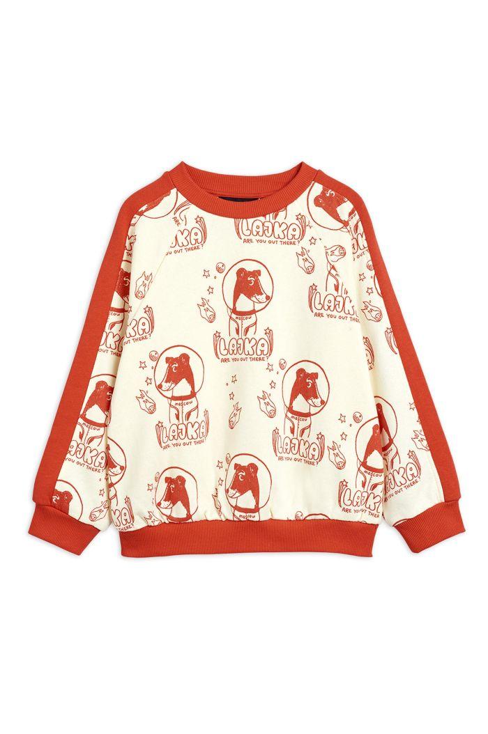 Mini Rodini Lajka all-over print sweatshirt Offwhite_1