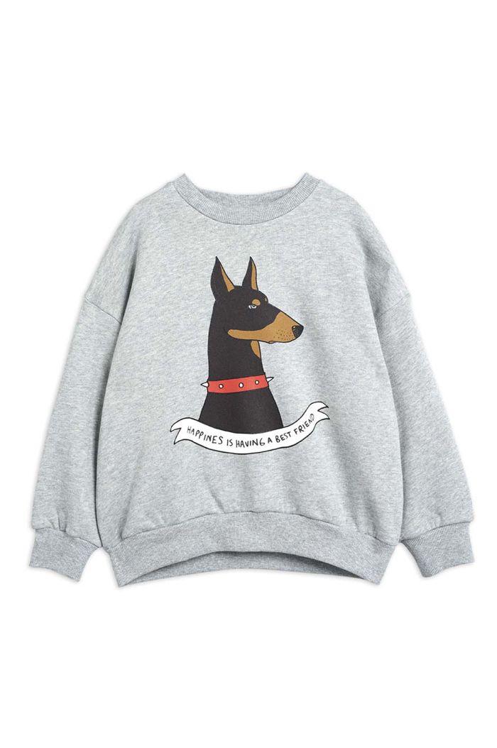 Mini Rodini Doberman single print sweatshirt Grey melange_1
