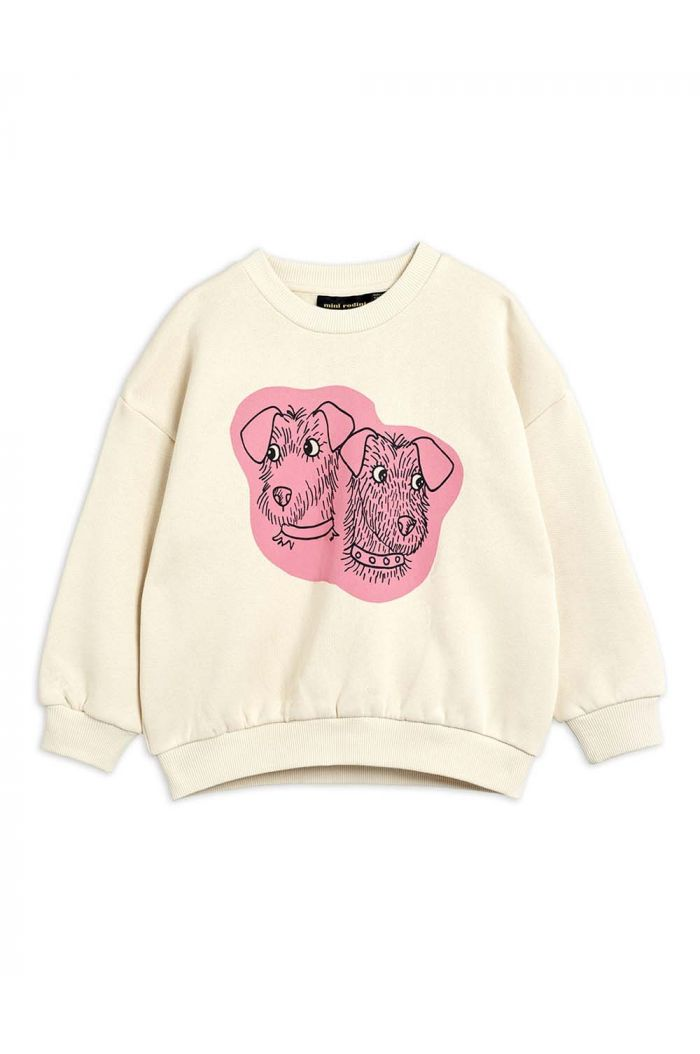 Mini Rodini Terrier single print sweatshirt Offwhite_1