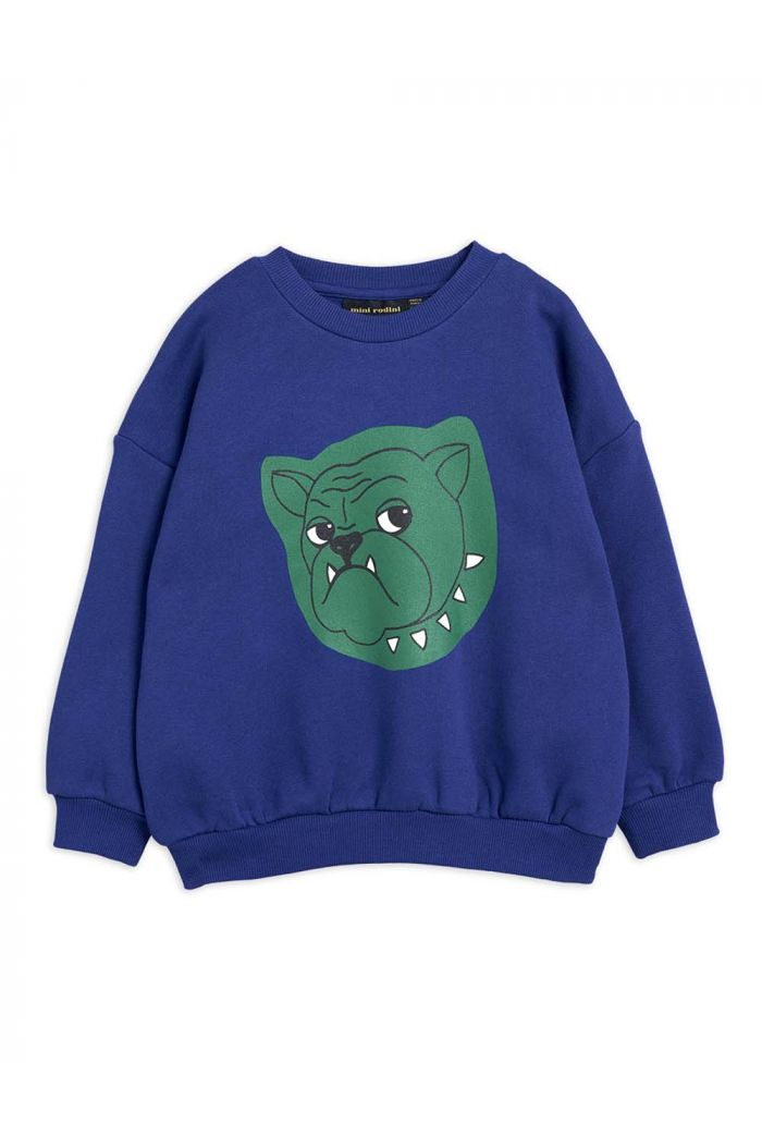 Mini Rodini Bulldog single print sweatshirt Navy_1