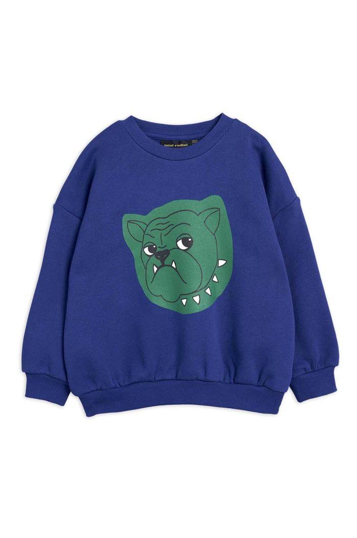 Mini Rodini Bulldog single print sweatshirt Navy_1