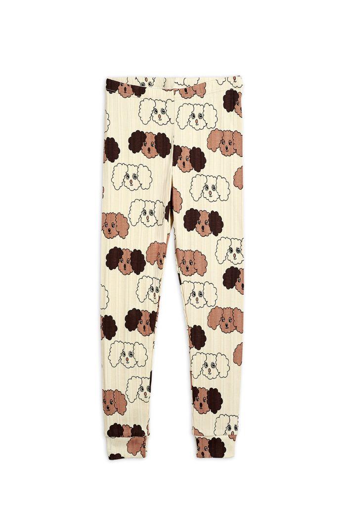 Mini Rodini Fluffy dog all-over print leggings Beige