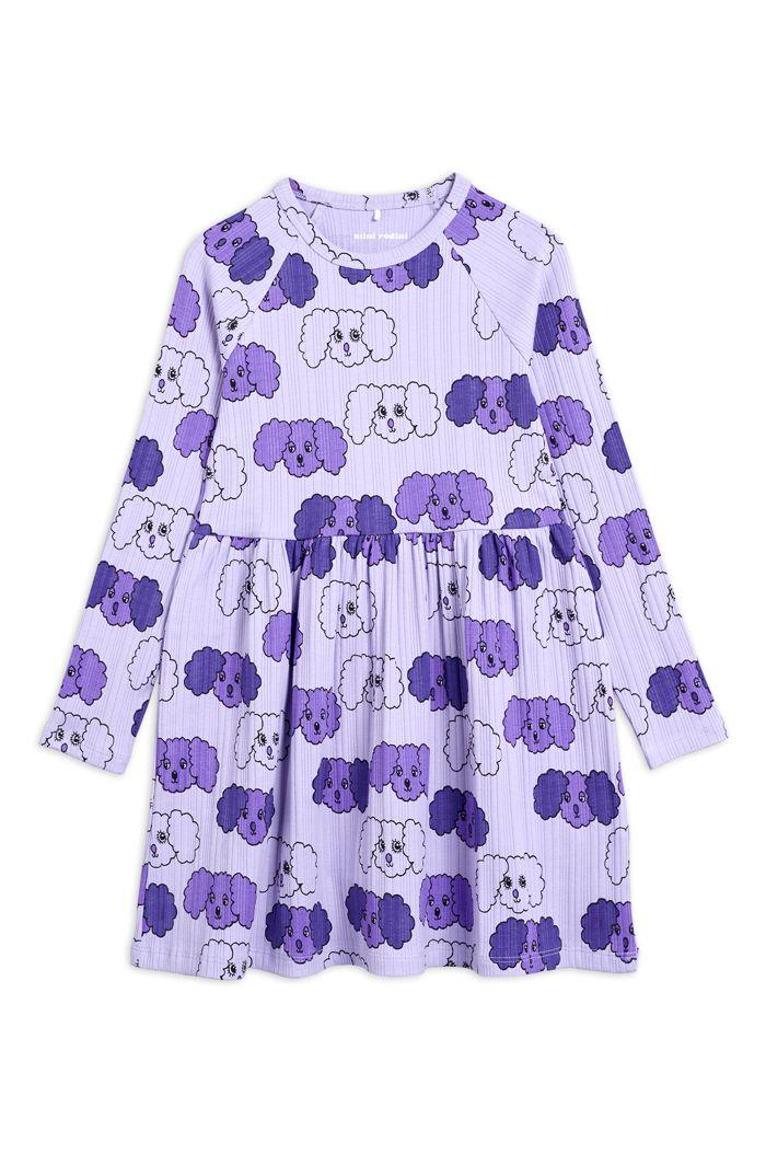 Mini Rodini Fluffy dog all-over print dress Purple_1