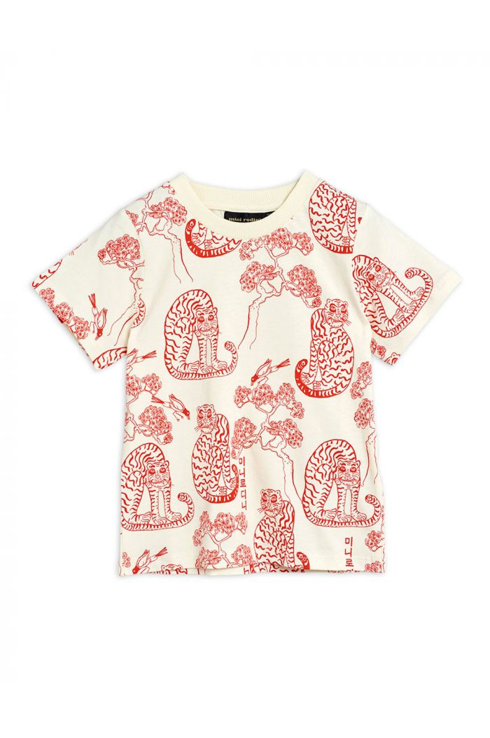 Mini Rodini Tigers all-over print shortsleeve tee Offwhite_1