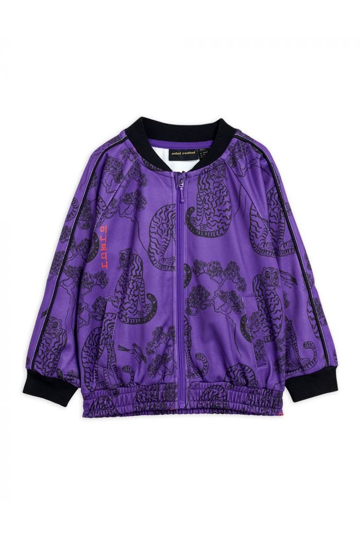 Mini Rodini Tigers waistcoat jacket Purple_1
