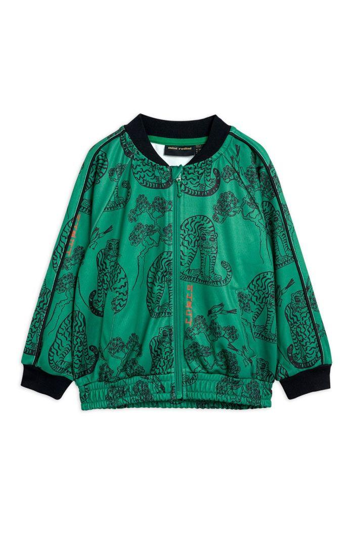 Mini Rodini Tigers waistcoat jacket Green_1