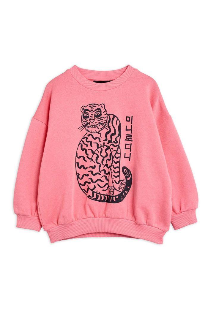 Mini Rodini Tiger single print sweatshirt Pink_1