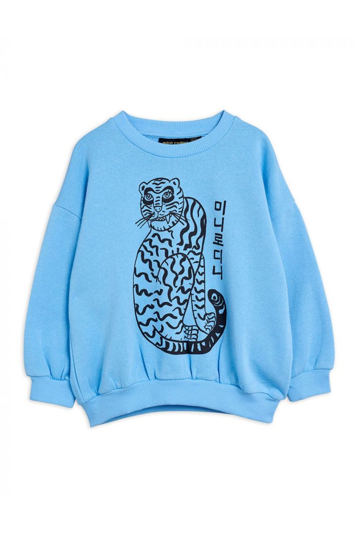 Mini Rodini Tiger single print sweatshirt Blue_1