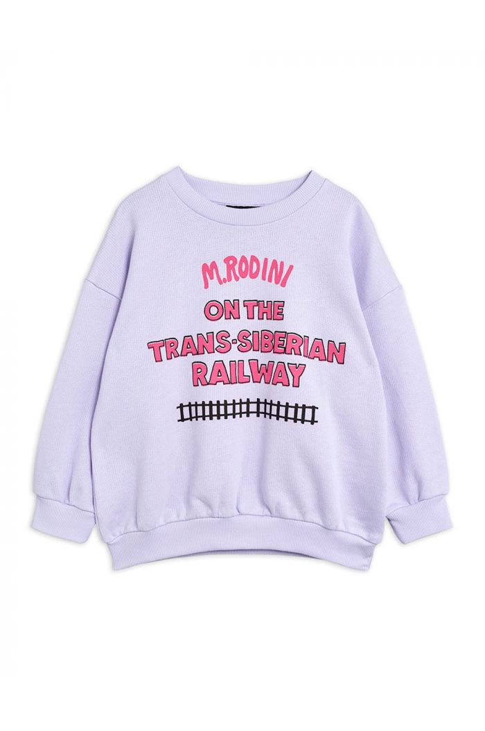 Mini Rodini Transsiberian single print sweatshirt Purple_1