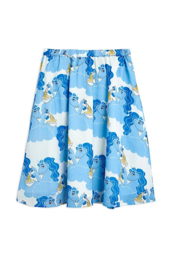 Mini Rodini Unicorn noodles woven long skirt Blue_1