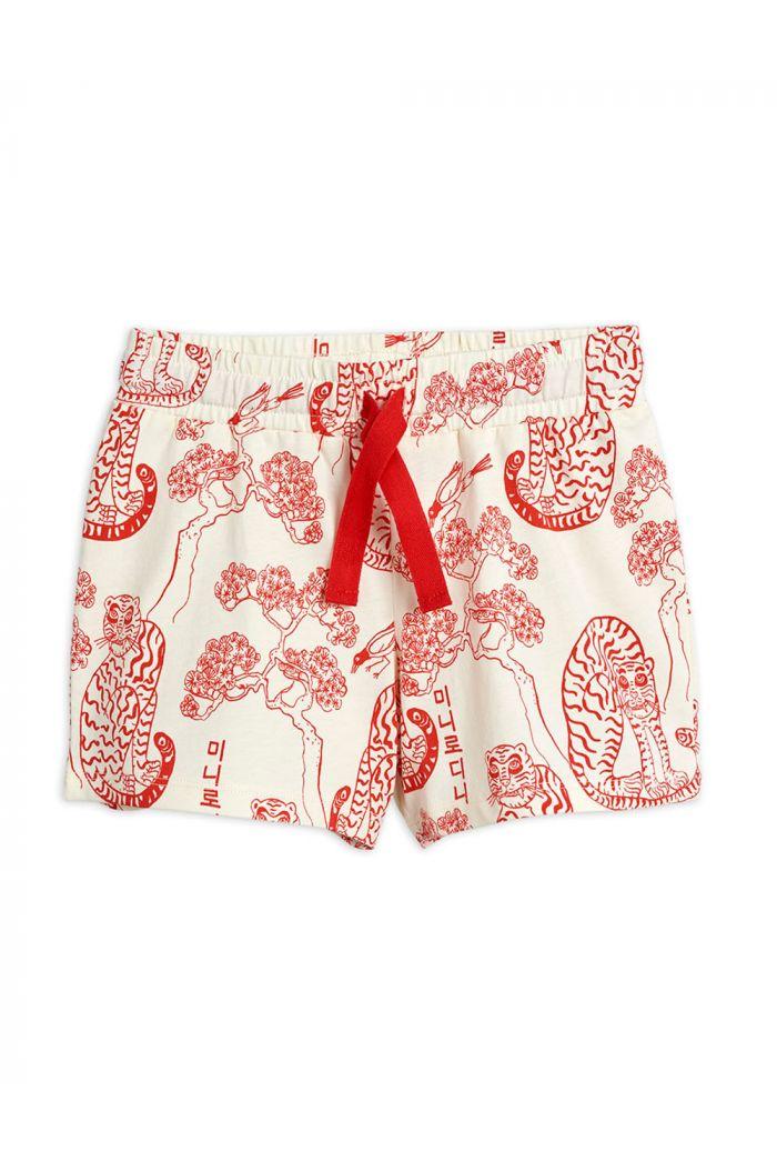 Mini Rodini Tigers all-over print shorts Offwhite_1