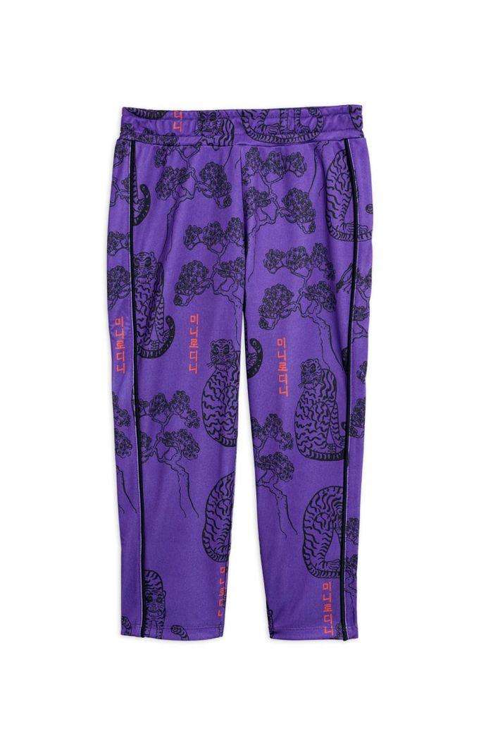 Mini Rodini Tigers waistcoat trousers Purple_1