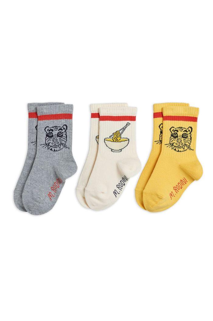 Mini Rodini Tiger 3 pack socks Multi_1