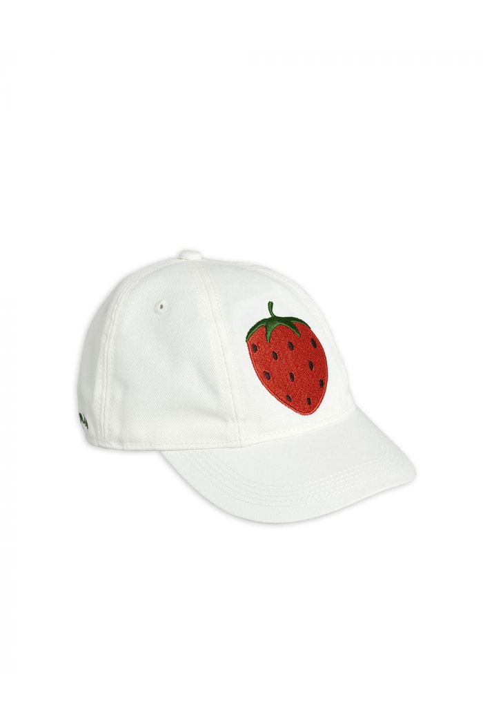 Mini Rodini Strawberry soft cap Offwhite_1