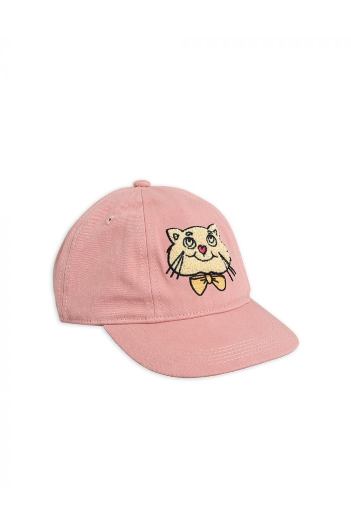Mini Rodini Cat soft cap Pink_1