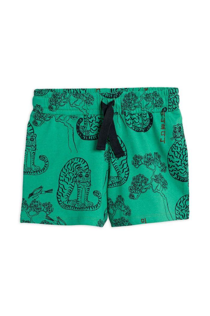 Mini Rodini Tigers all-over print shorts Green_1