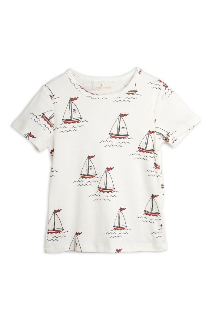 Mini Rodini Sailing boats all-over shortsleeve tee White_1