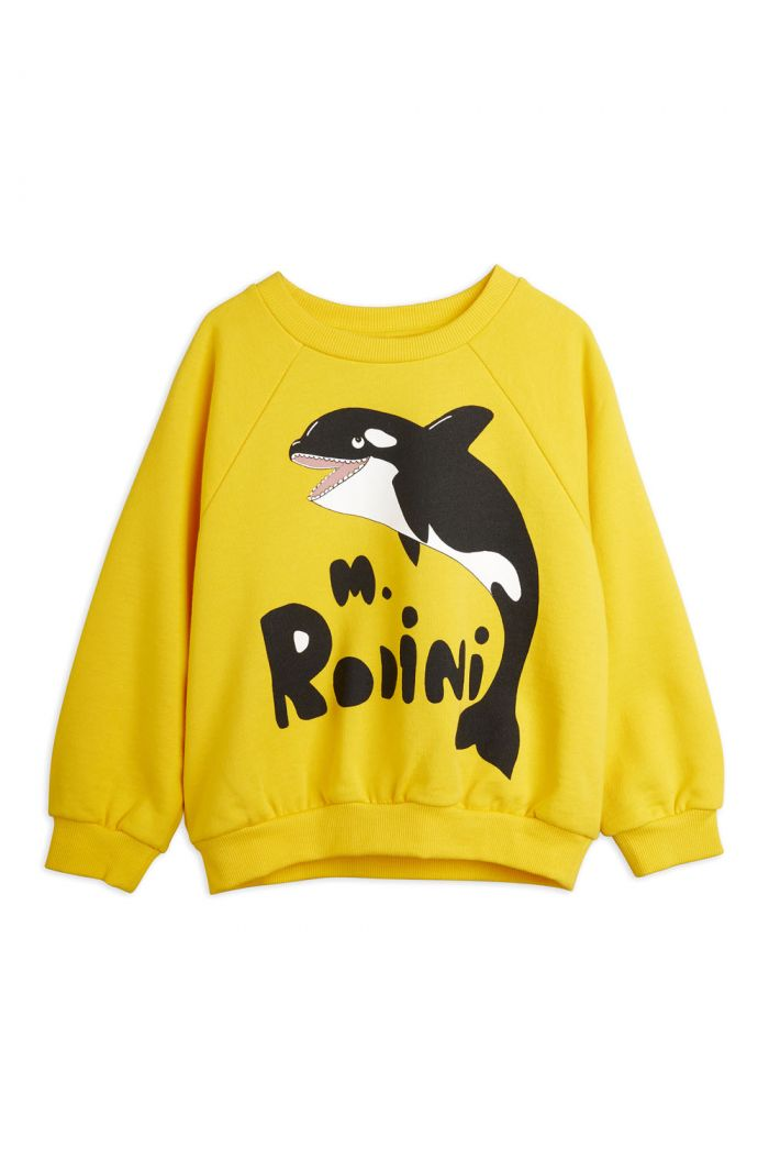 Mini Rodini Orca single print sweatshirt Yellow_1