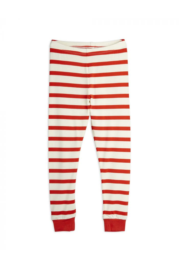 Mini Rodini Stripe Leggings Red_1