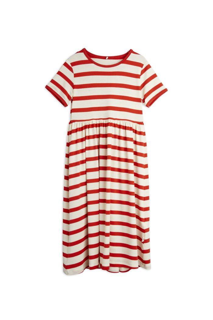 Mini Rodini Stripe shortsleeve dress Red_1