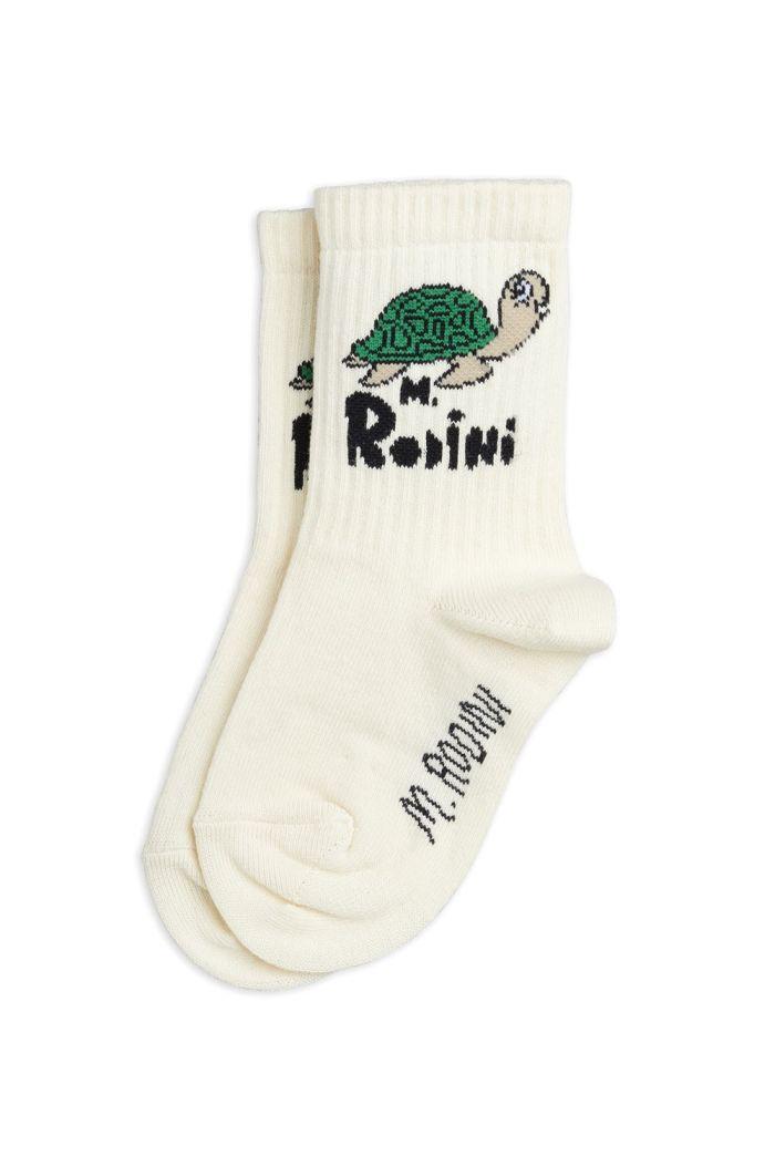 Mini Rodini Turtle sock Offwhite_1