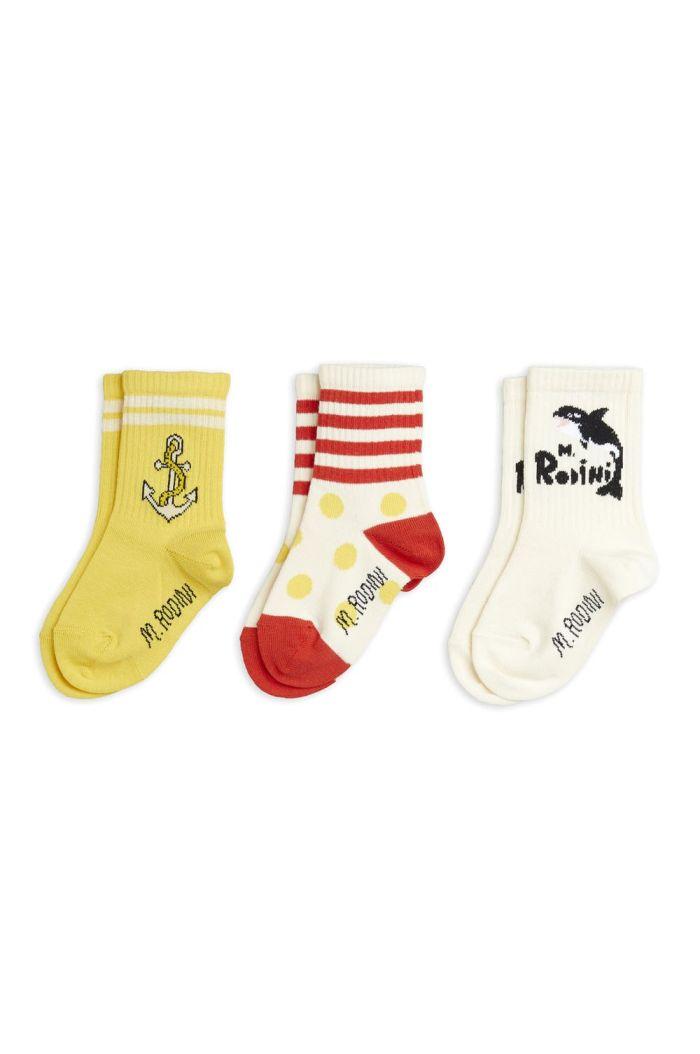 Mini Rodini Orca 3-pack socks Multi_1