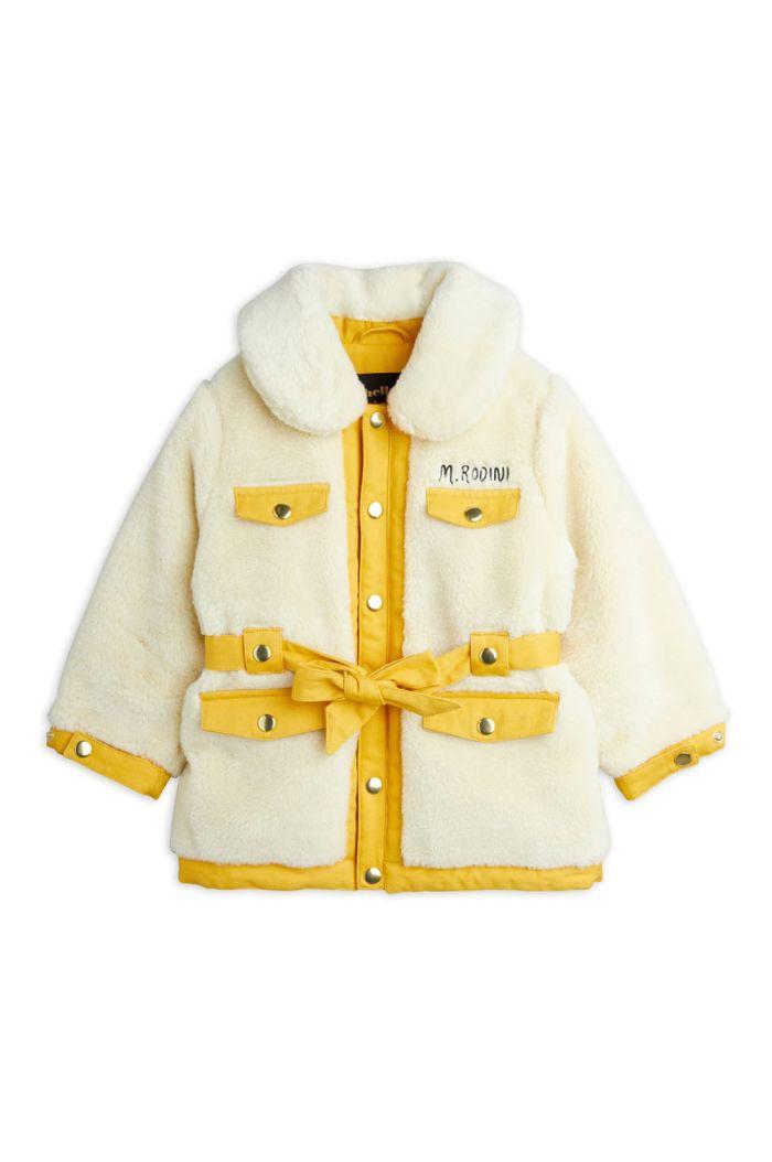 Mini Rodini Faux fur jacket Offwhite_1