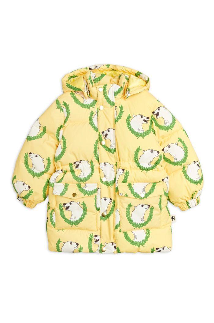 Mini Rodini Polar Bear Heavy Puffer Jacket Yellow_1