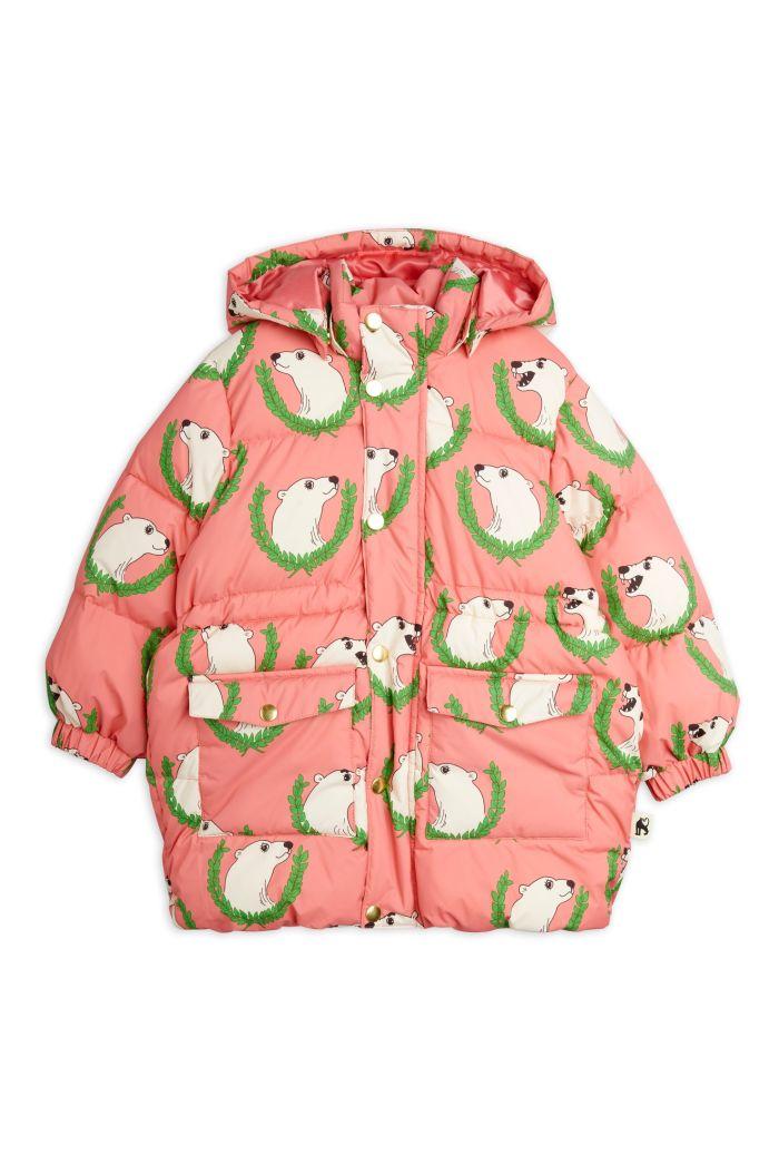 Mini Rodini Polar Bear Heavy Puffer Jacket Pink_1
