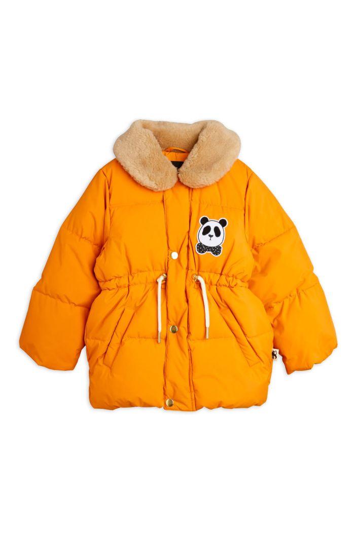 Mini Rodini Panda puffer jacket Orange_1