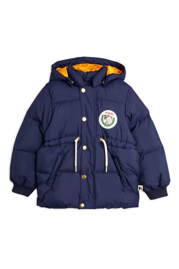 Mini Rodini Polar bear patch puffer jacket Navy_1