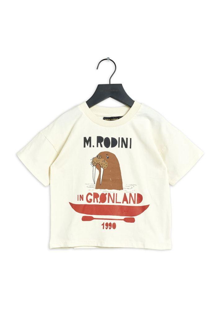 Mini Rodini Walrus single print tee Offwhite_1