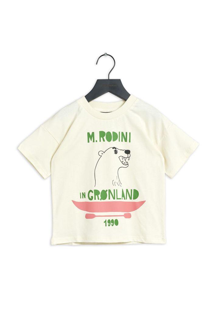 Mini Rodini Polar bear single print t-shirt Offwhite_1