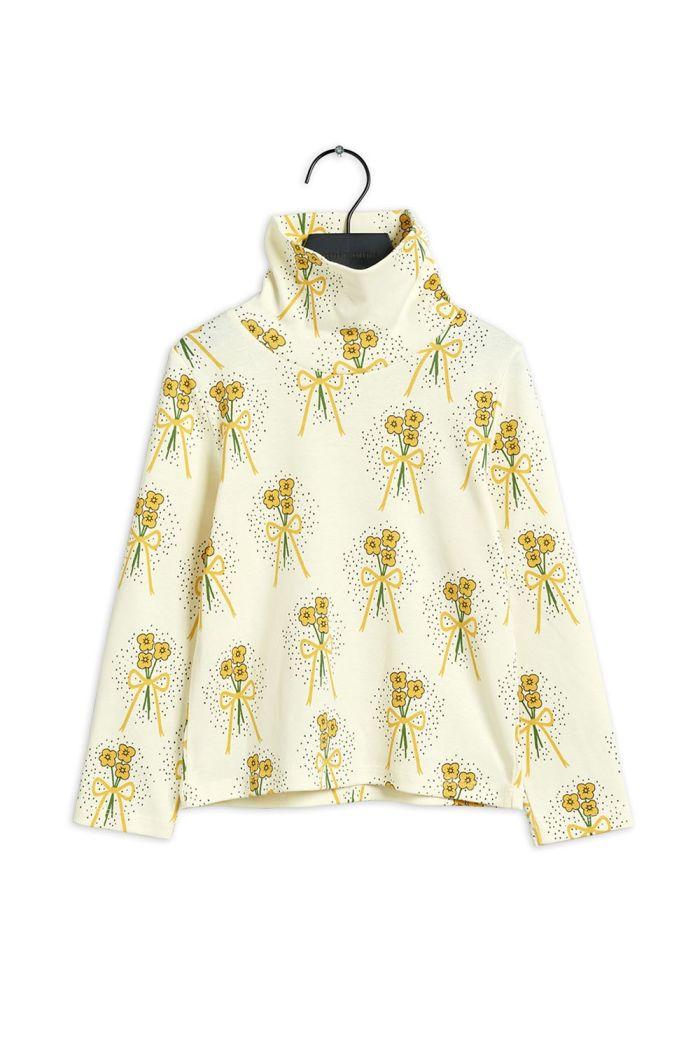 Mini Rodini Winterflowers turtleneck longsleeve Yellow_1