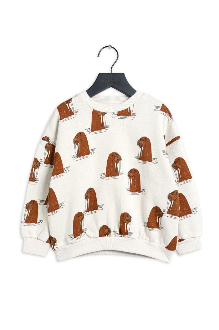 Mini Rodini Walrus all-over print sweatshirt Grey_1