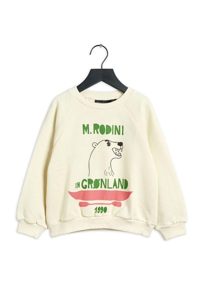 Mini Rodini Polar bear single print sweatshirt Offwhite_1