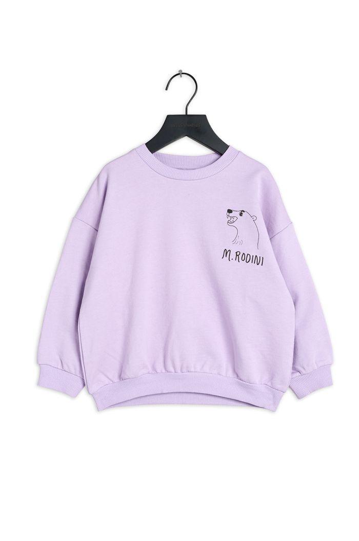 Mini Rodini Polar bear single print sweatshirt Purple_1