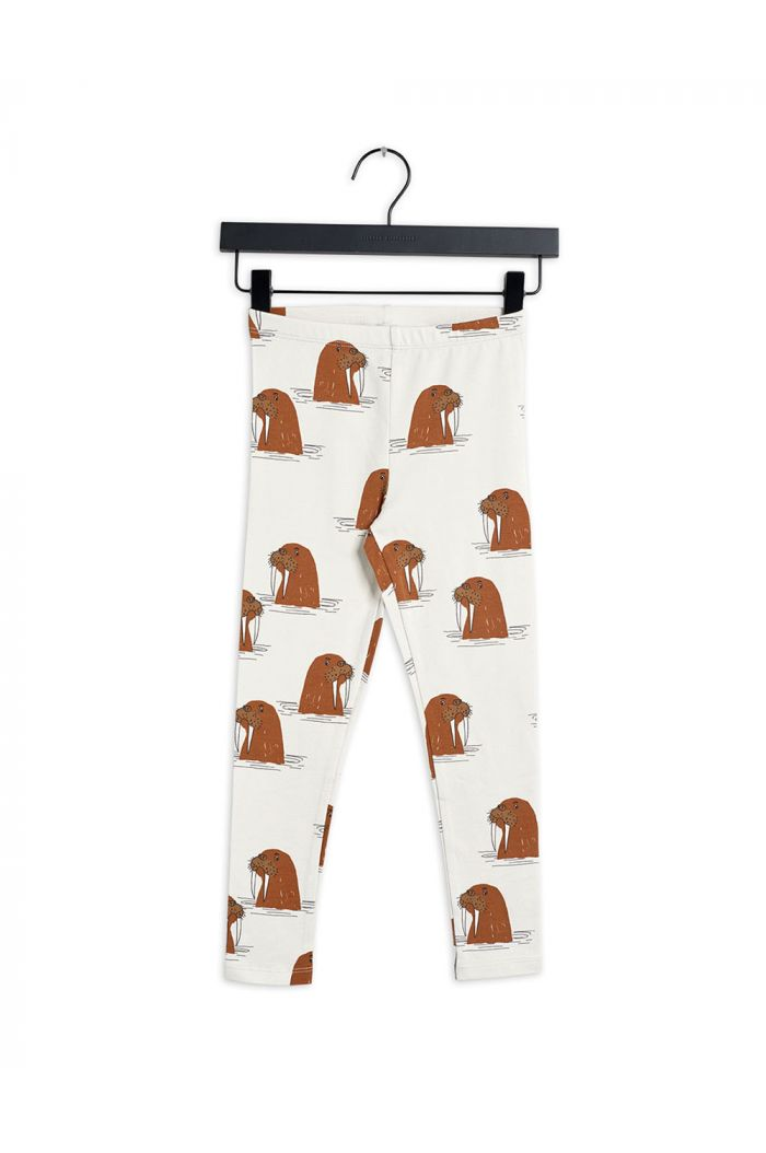 Mini Rodini Walrus all-over print leggings Grey_1