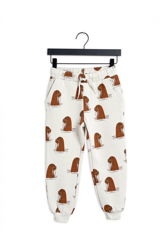 Mini Rodini Walrus all-over print sweatpants Grey_1
