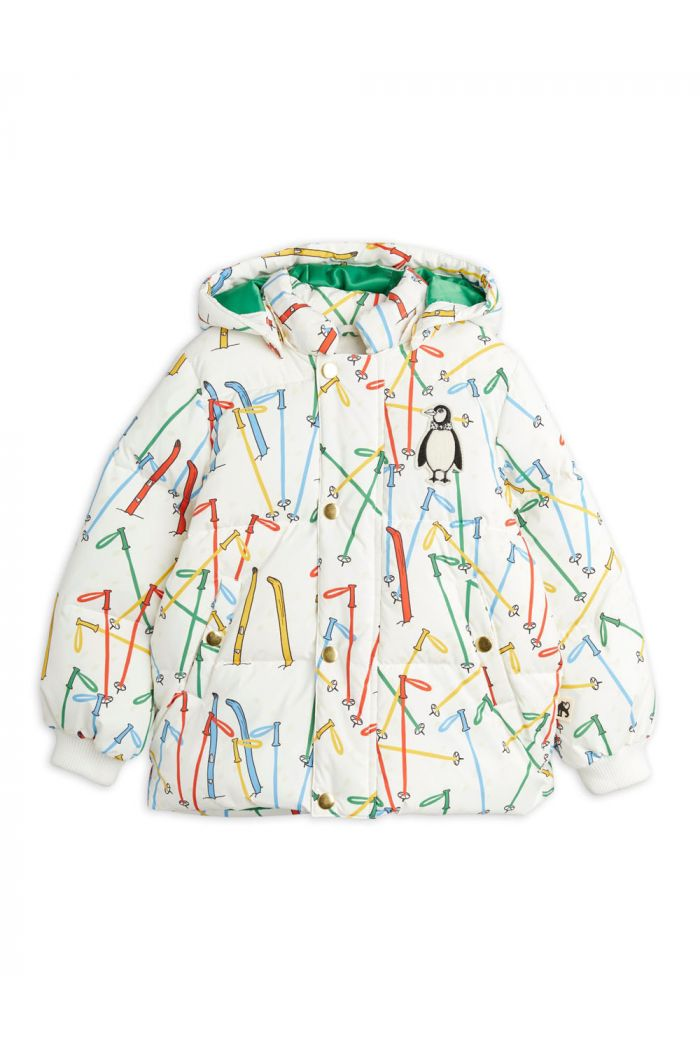 Mini Rodini Skis puffer jacket Offwhite_1