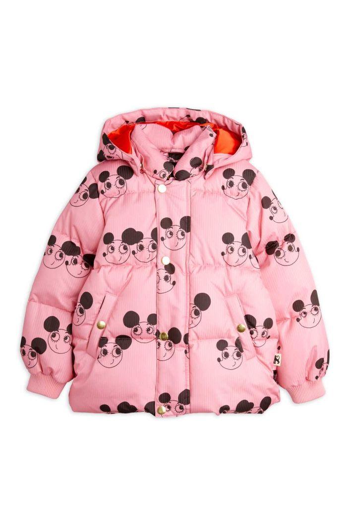 Mini Rodini Ritzratz puffer jacket Pink_1