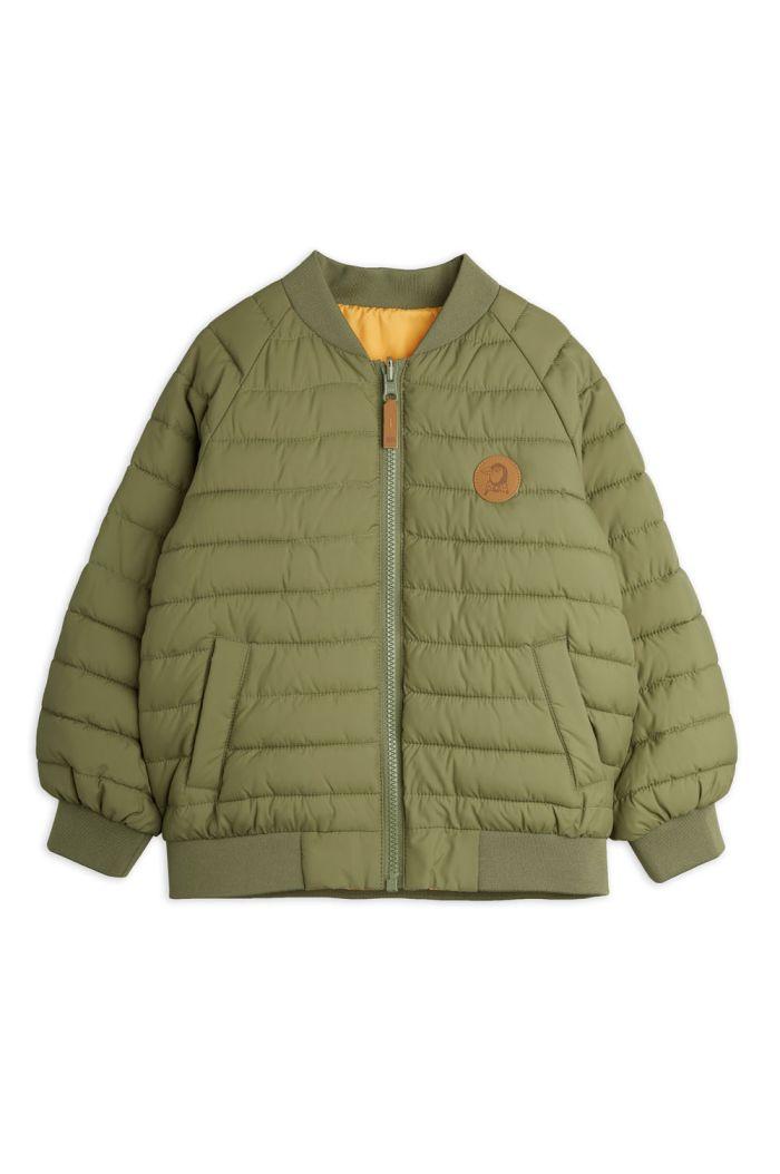 Mini Rodini Beaver  insulator jacket Green_1