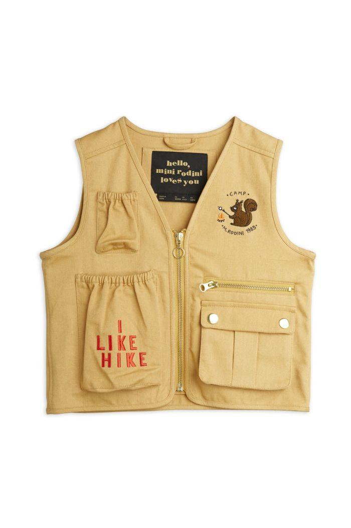 Mini Rodini Utility vest Beige_1