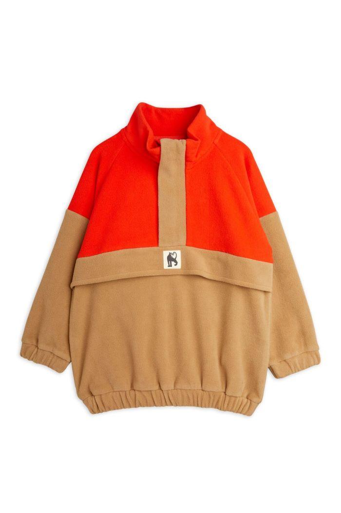 Mini Rodini Fleece zip pullover Brown_1