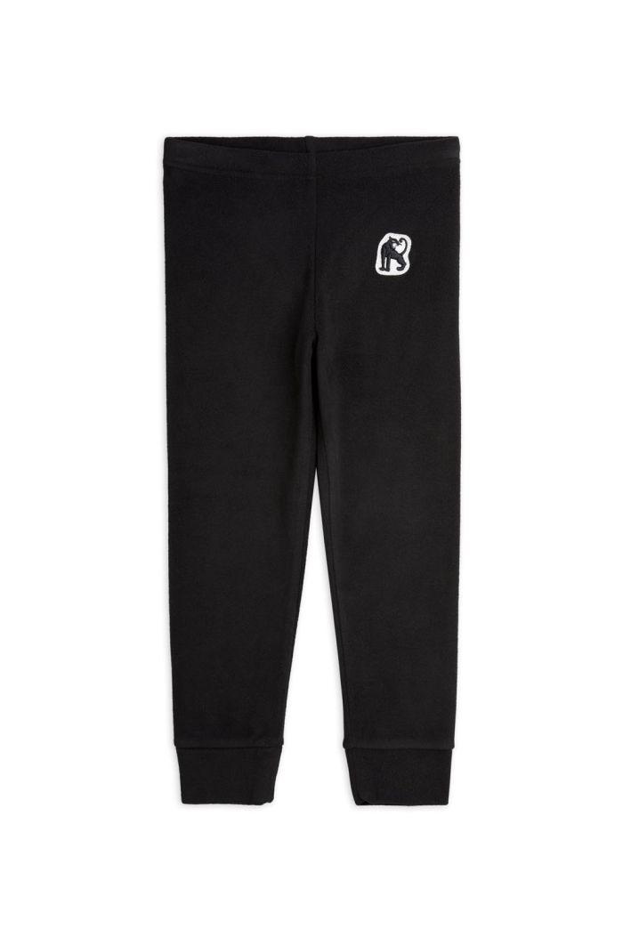 Mini Rodini Microfleece trousers Black_1