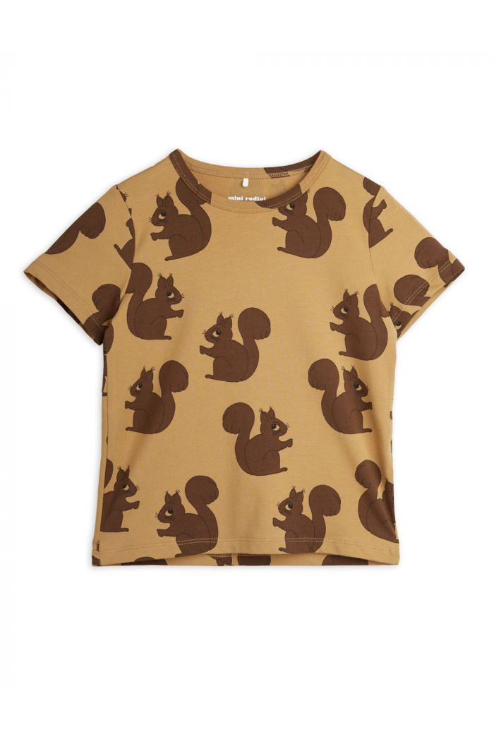 Mini Rodini Squirrel all-over print t-shirt Brown_1