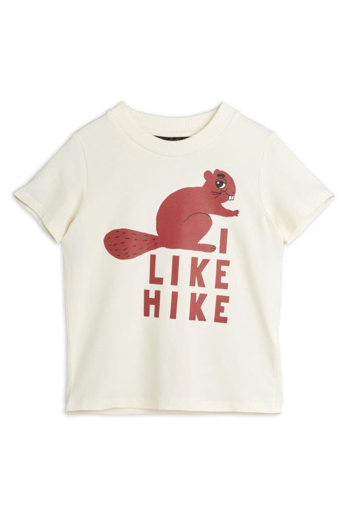 Mini Rodini Beaver hike shortsleeve tee Offwhite_1