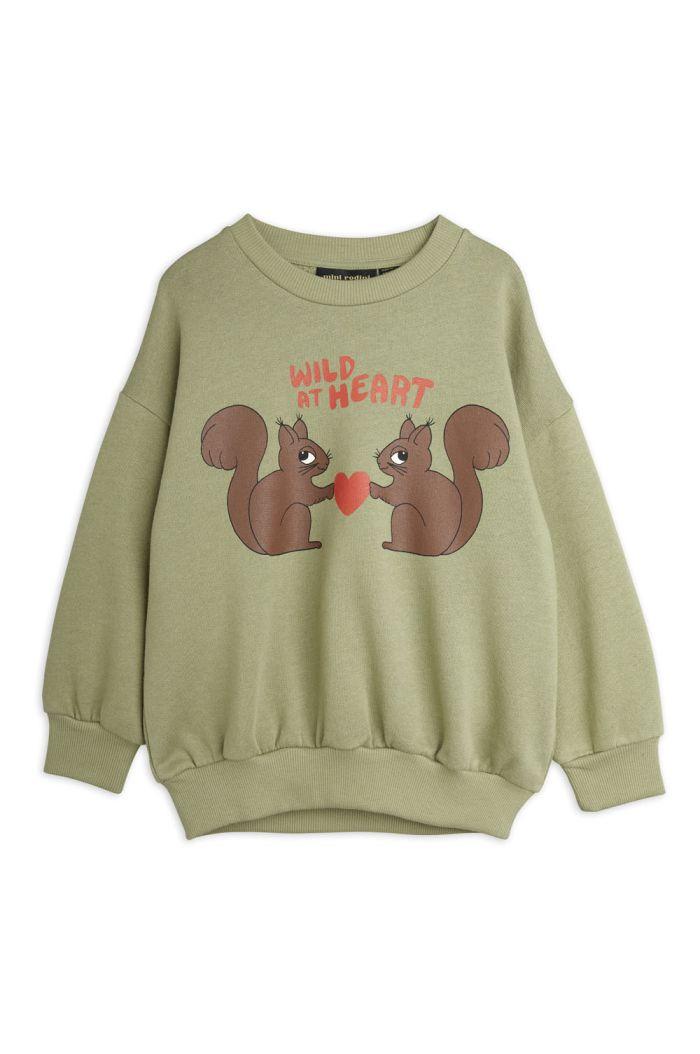 Mini Rodini Wild at heart sweatshirt Green_1