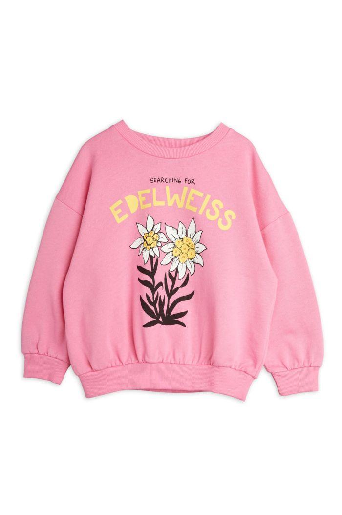 Mini Rodini Edelweiss single print sweatshirt Pink_1